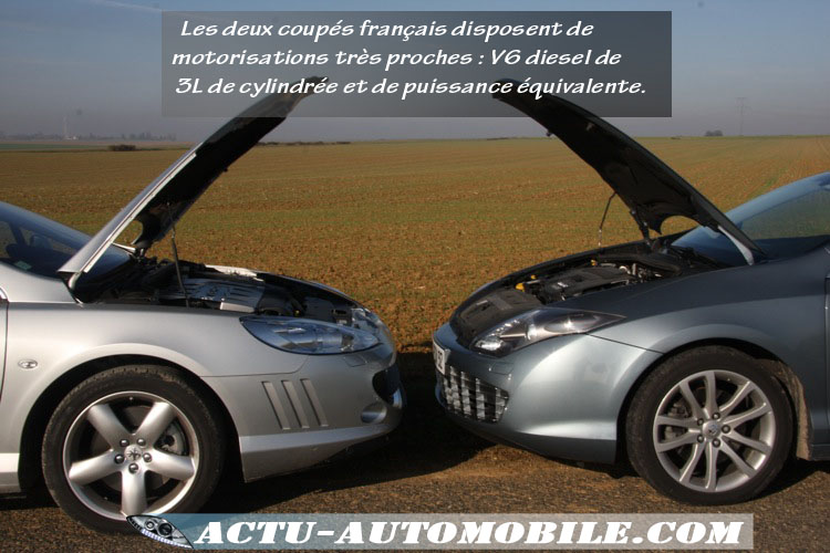 essai renault laguna coup face la peugeot 407 coup actu automobile. Black Bedroom Furniture Sets. Home Design Ideas