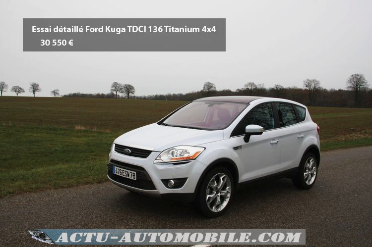 essai ford kuga tdci 136 4x4 titanium. Black Bedroom Furniture Sets. Home Design Ideas