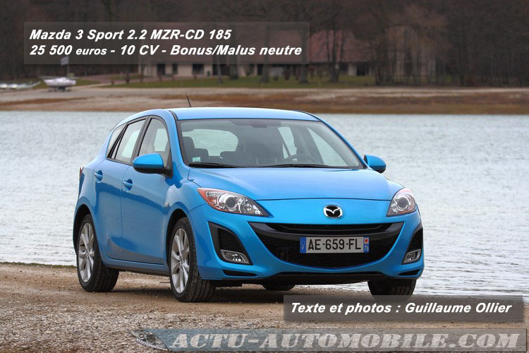 essai mazda 3 sport 2 2 mzr cd 185 actu automobile. Black Bedroom Furniture Sets. Home Design Ideas