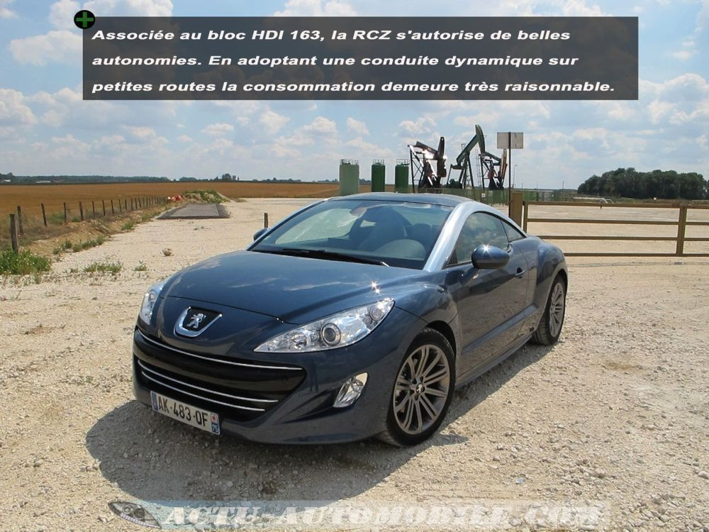 essai peugeot rcz 2 0 hdi 163 tenue de route freinage motorisation actu automobile actu. Black Bedroom Furniture Sets. Home Design Ideas