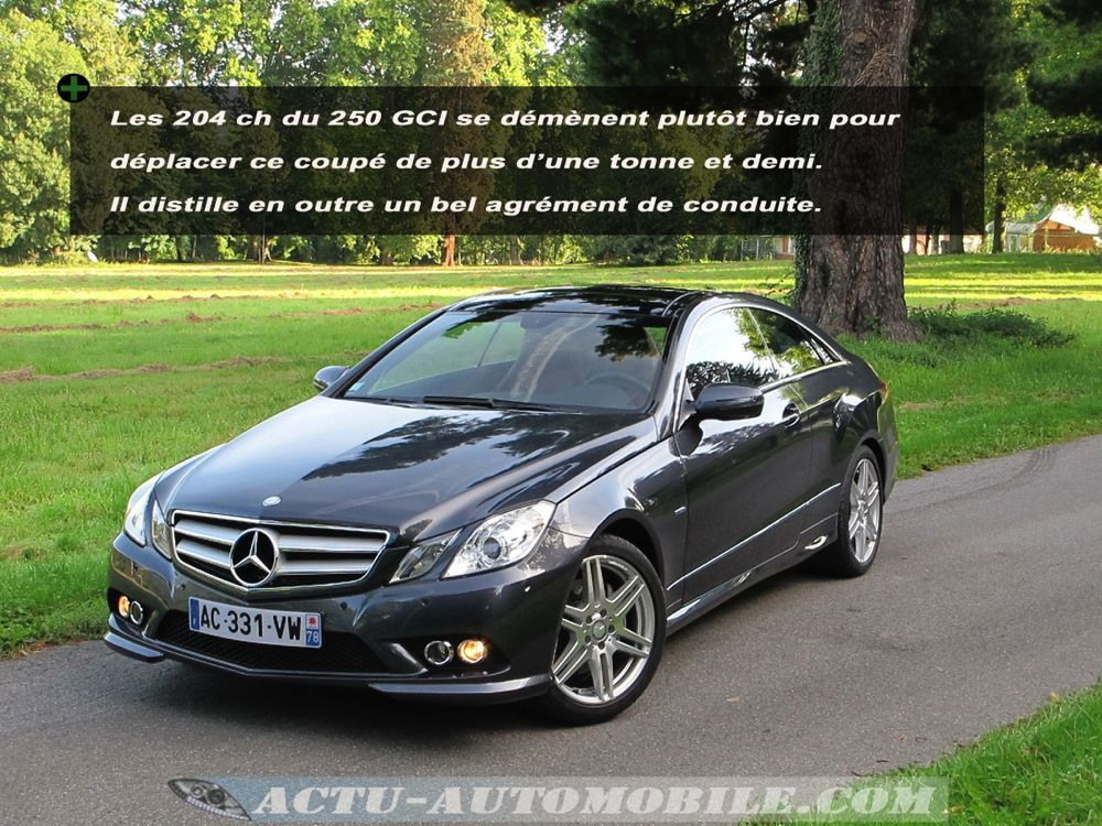 essai mercedes classe e coup 250 cgi quipement tenue de route motorisation actu. Black Bedroom Furniture Sets. Home Design Ideas