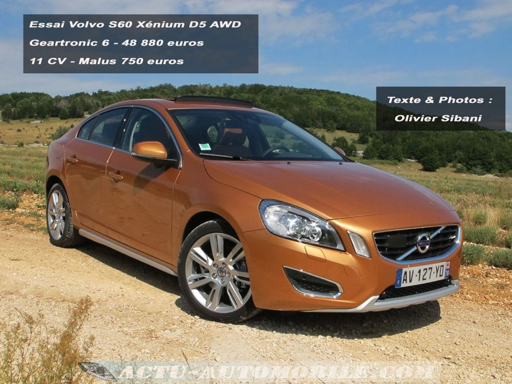 essai volvo s60 x nium d5 awd geartronic 6 re ue avec. Black Bedroom Furniture Sets. Home Design Ideas