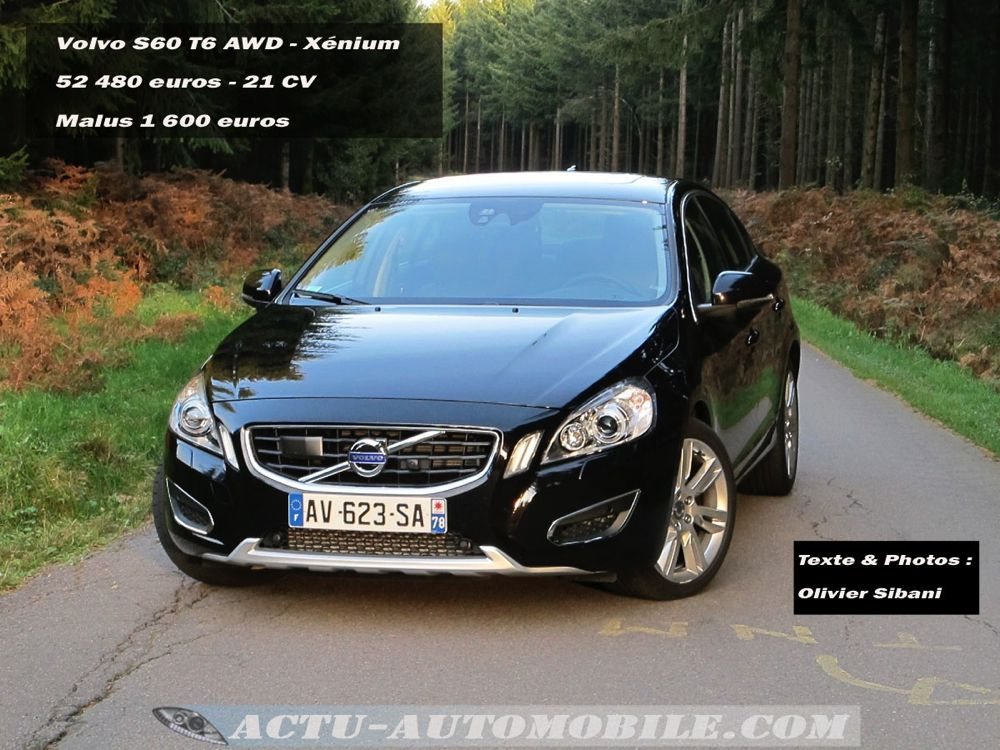 essai volvo s60 t6 awd x nium actu automobile. Black Bedroom Furniture Sets. Home Design Ideas