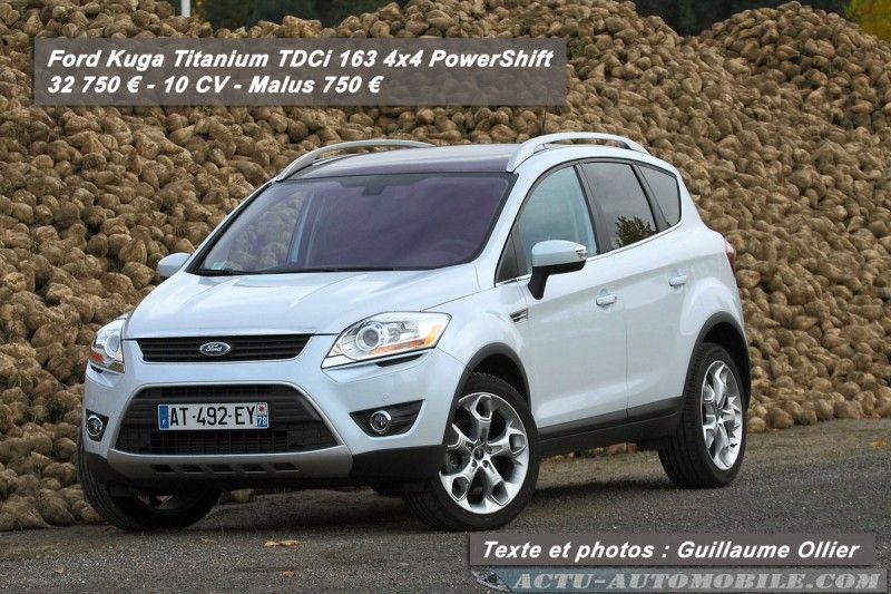 essai ford kuga tdci 163 4x4 powershift du style actu automobile. Black Bedroom Furniture Sets. Home Design Ideas