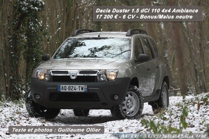 essai dacia duster 1 5 dci 110 4x4 ambiance actu automobile. Black Bedroom Furniture Sets. Home Design Ideas