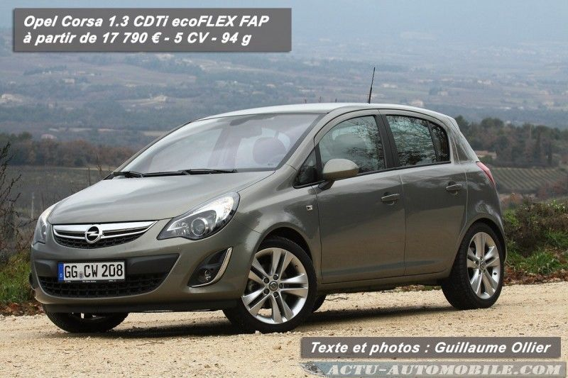essai opel corsa 2011 cdti 95 start stop actu automobile. Black Bedroom Furniture Sets. Home Design Ideas